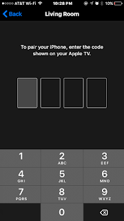 apple tv remote app pairing code screen image