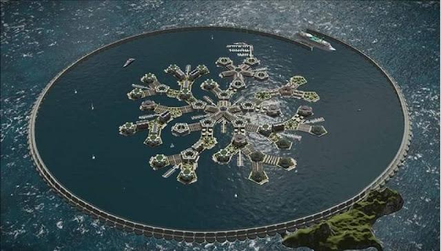 Η πρώτη πλωτή πόλη ετοιμάζεται στον Ειρηνικό! (εικόνες)
