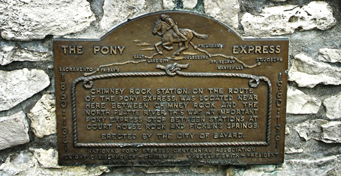 pony express chimney rock nebraska