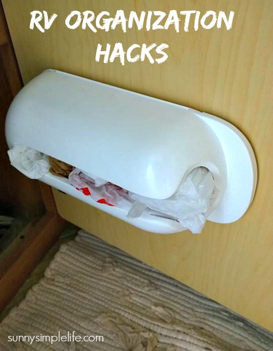 plastic bag holder, best RV hacks