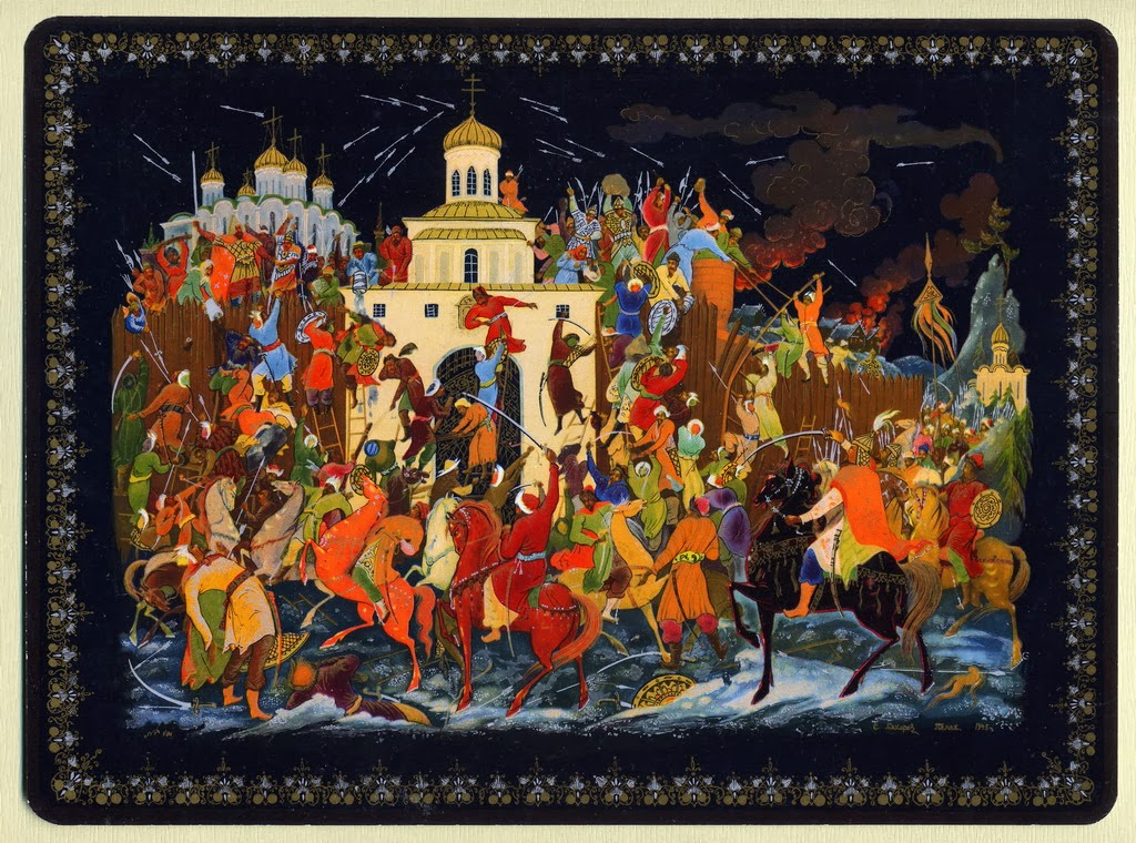 Palekh lacquured miniature 1945