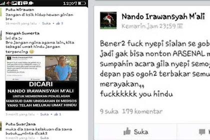 Kesal tak bisa nonton Arsenal, Orang ini hujat perayaan Nyepi di FB