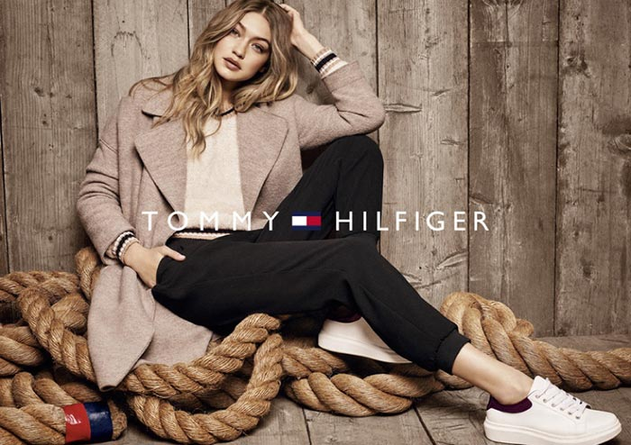 Gigi Hadid stars in the Tommy Hilfiger Fall/Winter 2016 Campaign