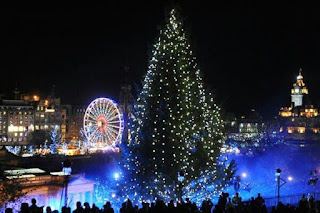 Pohon Natal Di Edinburgh, Skotlandia