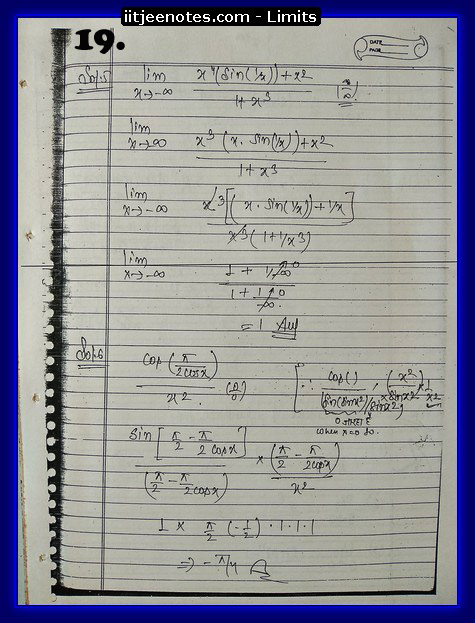 limits notes class 11 new