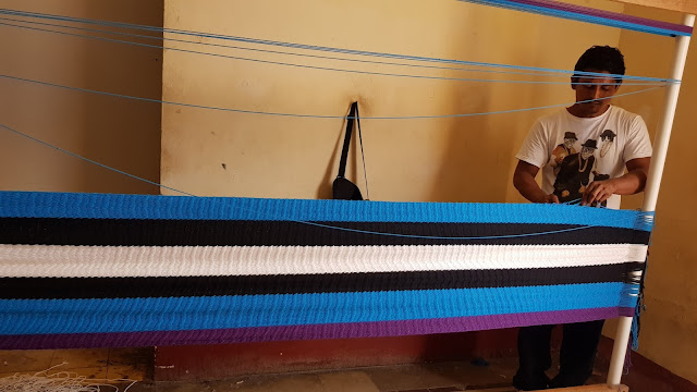 Weaving Hammocks at Charity Smiles Cafe in Granada, Nicaragua