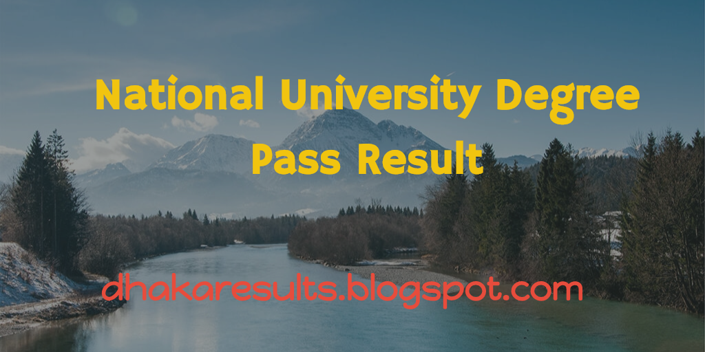 National University Degree Pass Result 2015