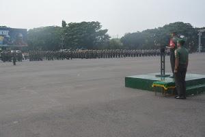 Kolonel Zulkifli Pimpin Apel Pengamanan Kunjungan RI 2