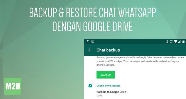 Simpan chat WhatsApp di Google Drive