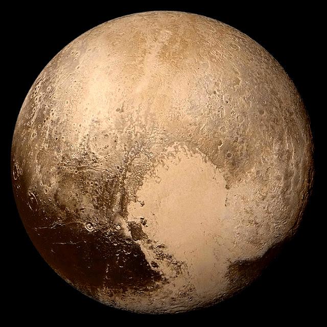 Plutão registrado em 14 de julho de 2015 pela sonda New Horizons