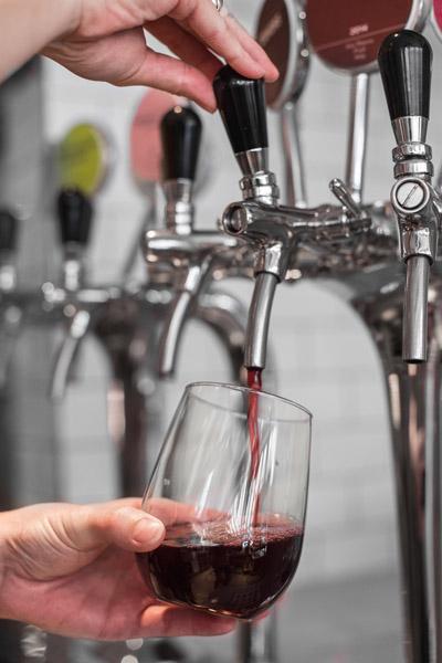 Wine on tap vs wine in bottle