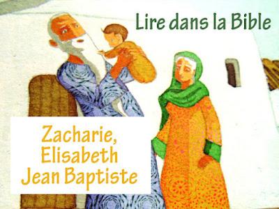 LES TEXTES DE LA BIBLE ZACHARIE ELISABETH JEAN BAPTISTE