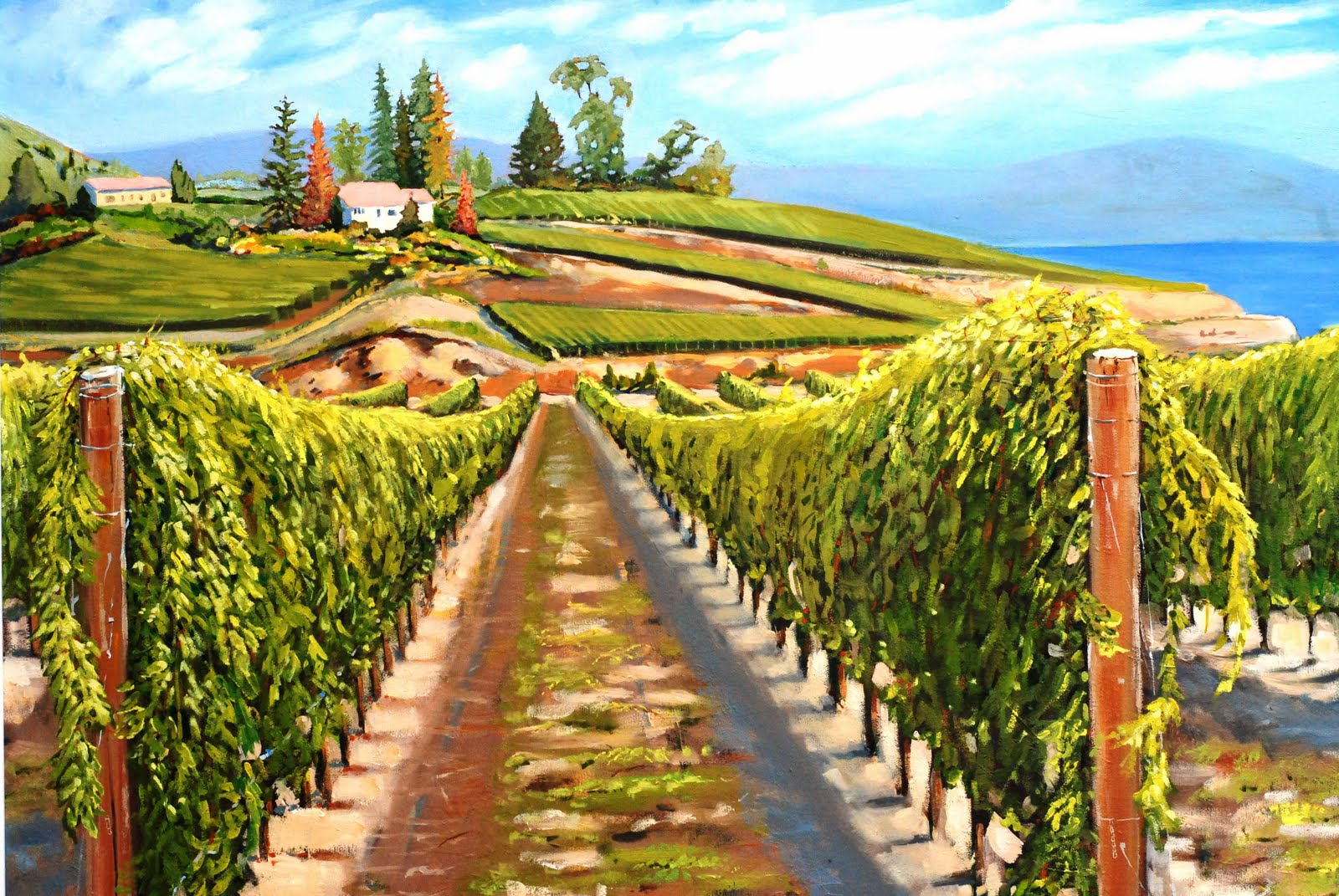 Ron Unruh Art Blog D Angelo Estate Vineyard Painting