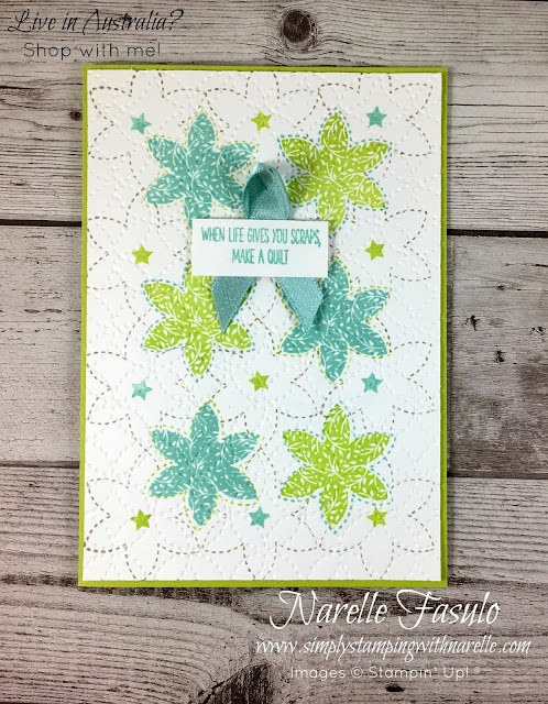 Know someone who loves to quilt? Then you know someone who would love to create cards with this amazing stamp set - http://bit.ly/2yi5LSZ - Simply Stamping with Narelle