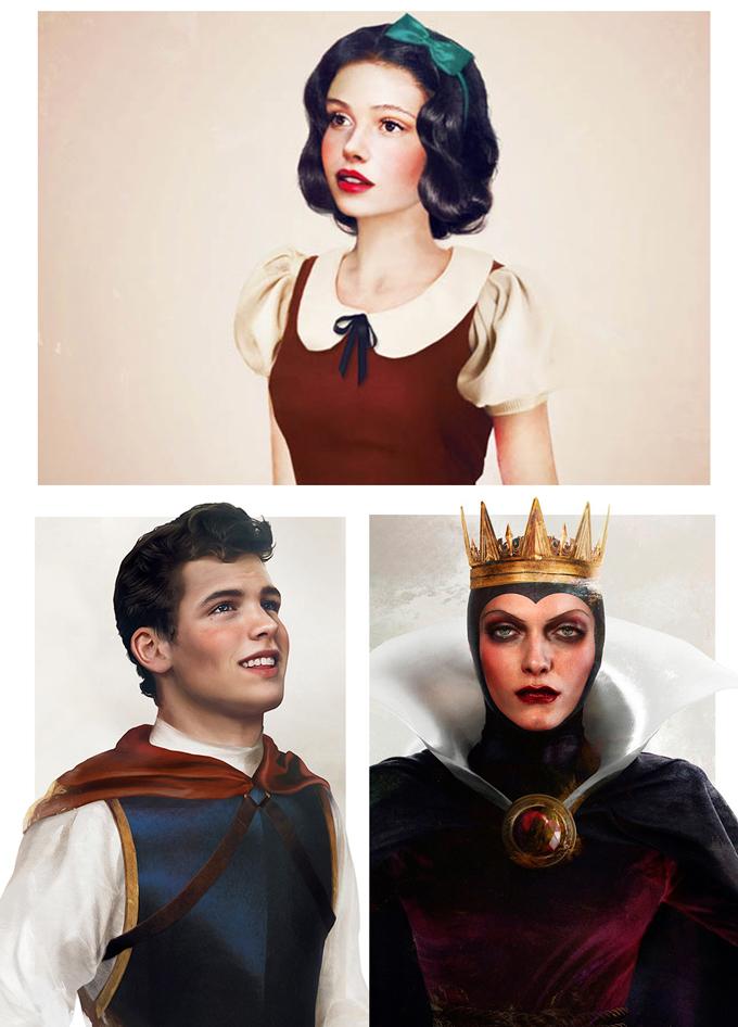 real life disney character Snow White and the Seven Dwarfs персонажи Дисней в реальной жизни Белоснежка и семь гномов