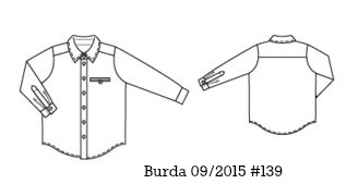Burda 09/2015 #139 boys pirate shirt www.loweryourpresserfoot.blogspot.com