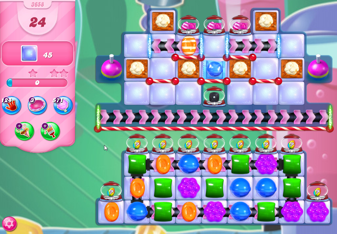 Candy Crush Saga level 3658