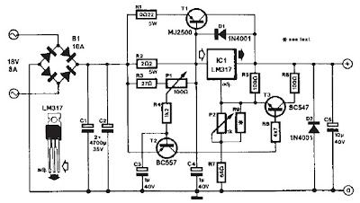 Circuit Diagram Knowledge: LM317 based DC motor speed