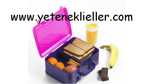 çocuklar için sağlıklı beslenme çantası