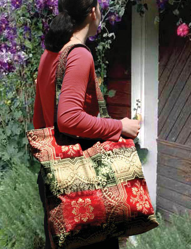 326b90ece Oversize reversible tote, free pattern by Megan Avery for Windham Fabrics