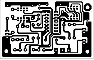 PCB Layout Effek Suara Robot Sound