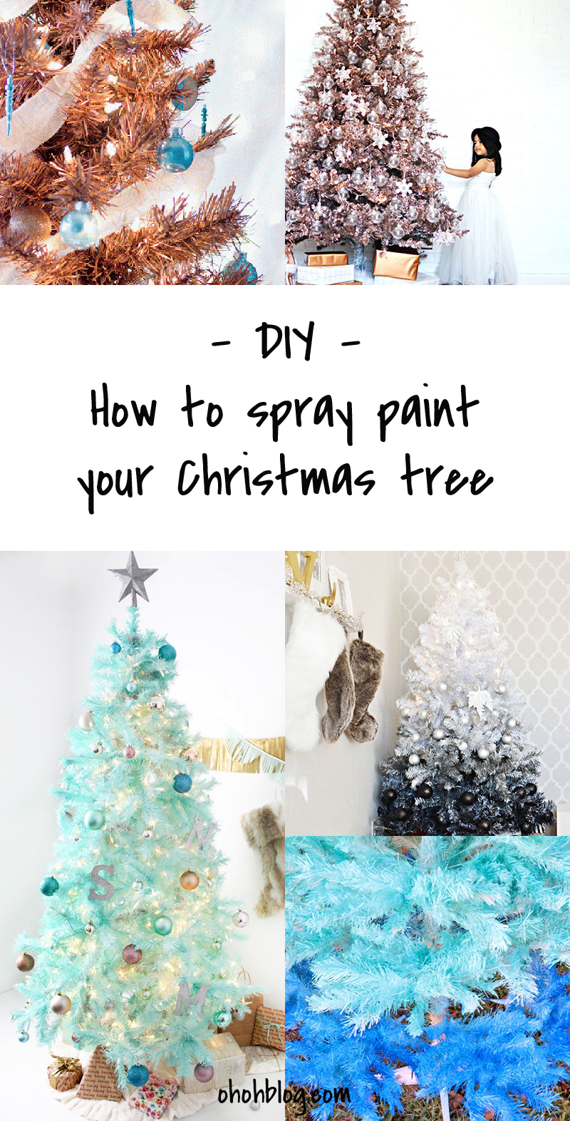 DIY to Try # spray painted Christmas tree - Ohoh Blog