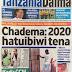 Chadema waapa kutoibiwa Tena kura ,Lubuva angoka NEC,Mrithi wake afunguka,Lissu alivyohenyeshwa Polisi Jana,magazeti ya leo Dec 23 ijumaa yapo hapa