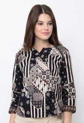 Hem batik wanita model terbaru cantik