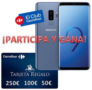 Gana un Samsung Galaxy S9 o hasta 250€ con El Club Carrefour