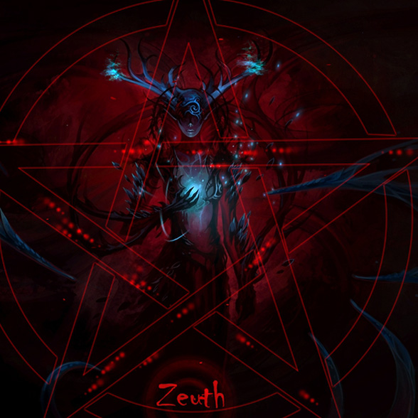 Blue Demon Girl With Pentagram Wallpaper Engine
