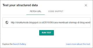cek struktur data schema markup blog