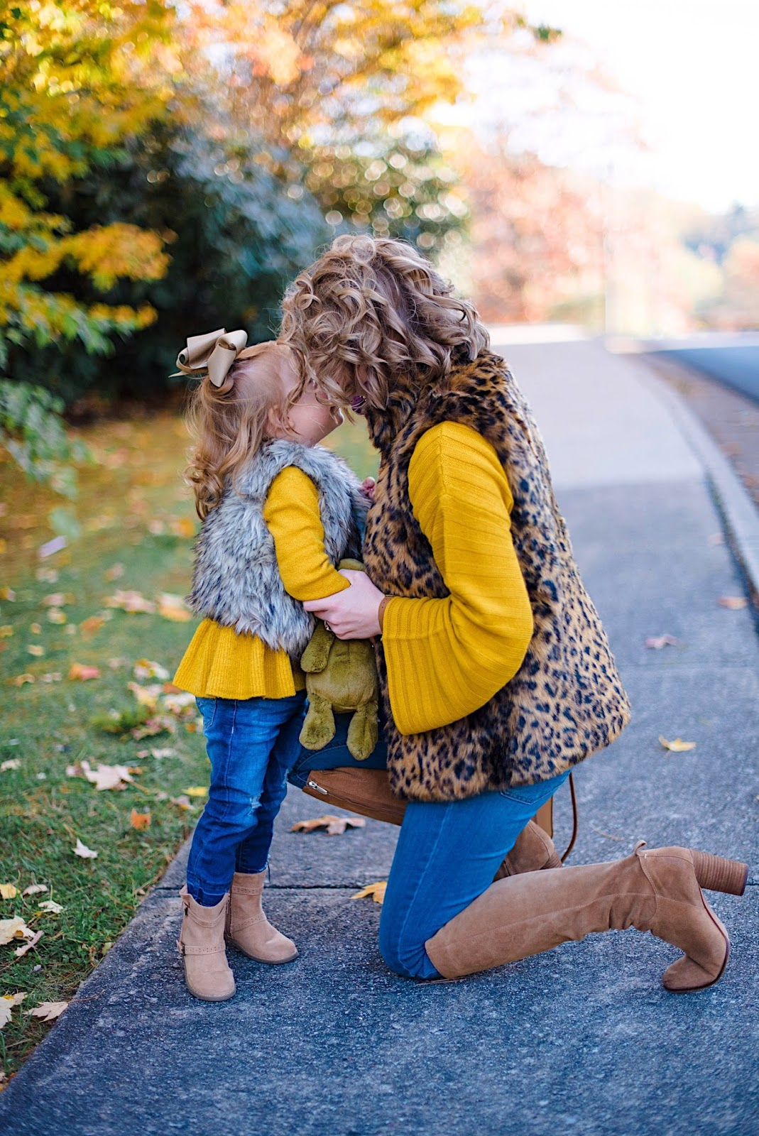 Mommy & Me Look: Mustard Yellow Sweaters - Something Delightful Blog