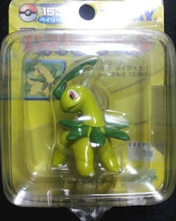 Bayleef figure Tomy Monster Collection yellow package series