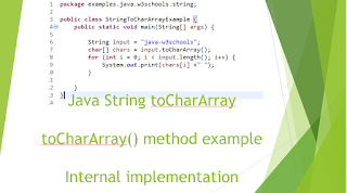 Java String toCharArray() with example - Convert string to char - Internal