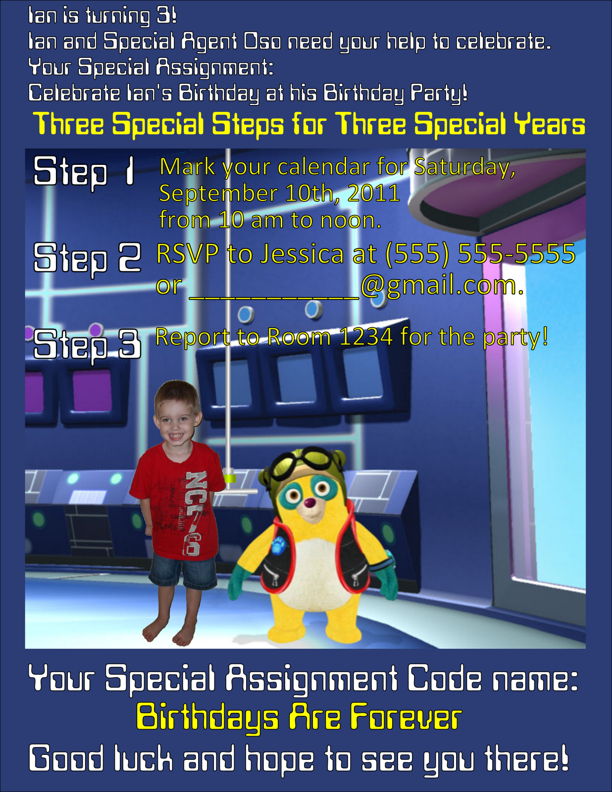 Speical Agent Oso Birthday Party