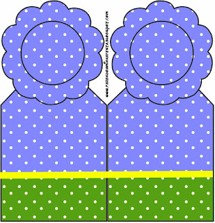 Purple, Yellow and Green with Withe Polka Dots: Free Printables for your Quinceanera Party.