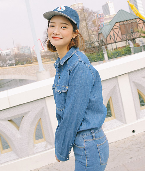V-Yoke Denim Shirt