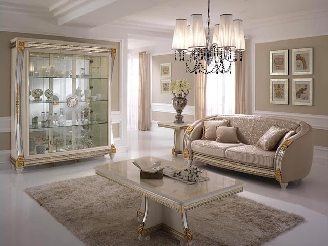 White A Classic Italian Furniture with Curved Decorations White A Classic Italian Furniture with Curved Decorations liberty coffee table classic style small tables