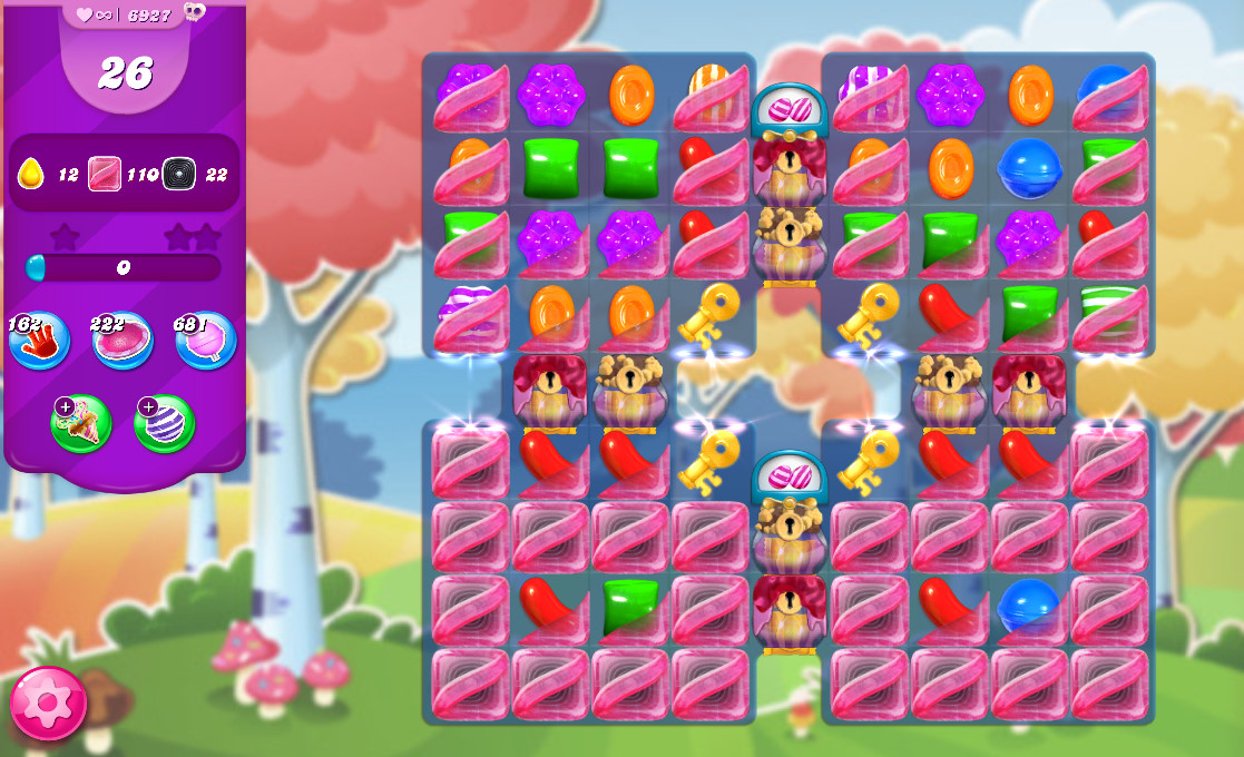 Candy Crush Saga level 6927