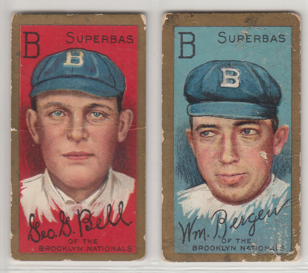 6d563b6cb220e Dodgers Blue Heaven  Collection  Some Vintage T205 Brooklyn Dodgers Baseball  Cards from 1911