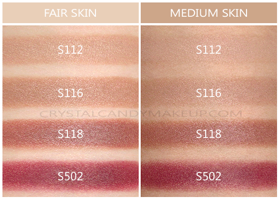 Make Up For Ever Lustrous Blush Palette Swatches S112 S116 S118 S502 Fair Medium Skin Tone