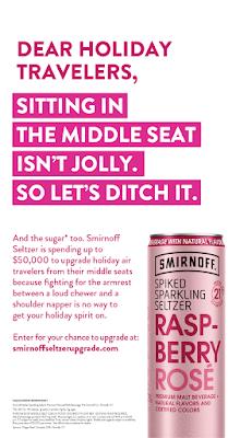 Smirnoff Sparkling Spiked Seltzer Seat Upgrade details.