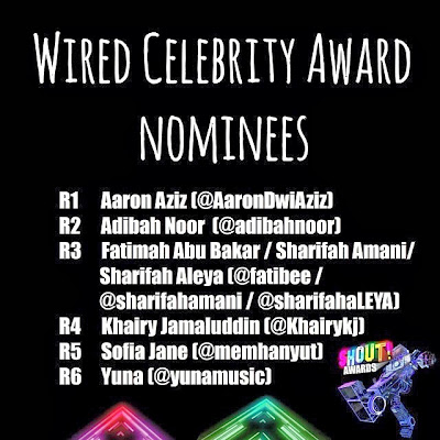 The Shout! Awards 2013 - Wired Celebrity Awards Nominees