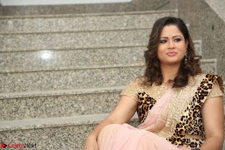 Shilpa Chakravarthy in Lovely Designer Pink Saree with Cat Print Pallu 037.JPG