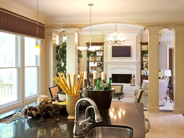 Italian Kitchen Dining Room Interior Combination