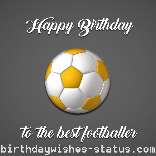 birthday wishes for football player