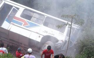 São Benedito: ônibus tomba e deixa mortos e feridos na serra da ibiapaba.