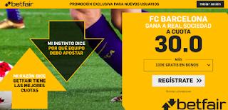 betfair supercuota Barcelona gana Real Sociedad 15 septiembre