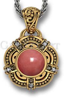 Coral Gemstone Pendant