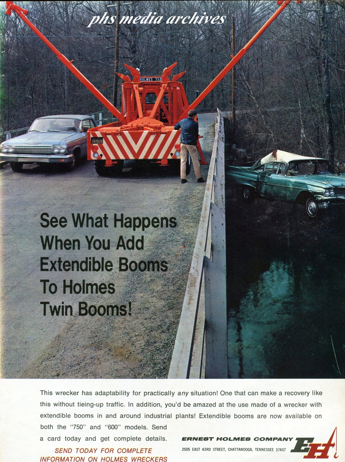 Here a holmes twin extendible boom option allows the operator to recover two vehicles even in difficult to reach places if you ve ever seen some of the